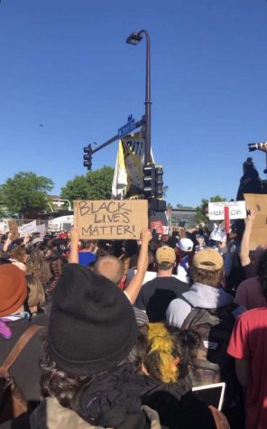 Peaceful daytime protests filled the streets of South Minneapolis in the wake of George Floyd