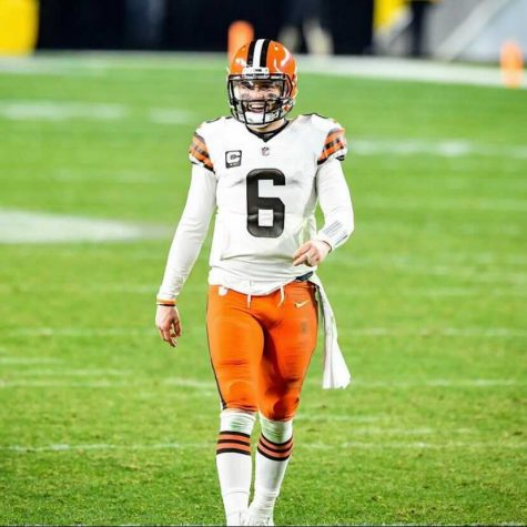 Cleveland Browns, and quarterback Baker Mayfield advance in the playoffs to face The Kansas City Chiefs.