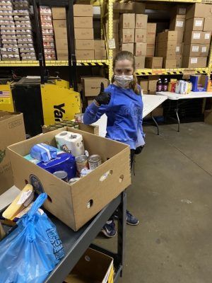 Sophie Kuether (10) is one of various Key Club volunteers at Southern Anoka Community Assistance.