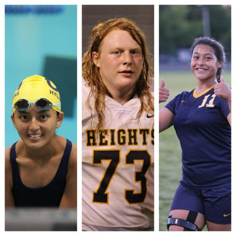 Columbia Heights athletes Tenzin Dolkar (12), William Katchmark (12) and Ilyssa Inamagua (12) contrast some of their teammates who chose to stay at home this year.