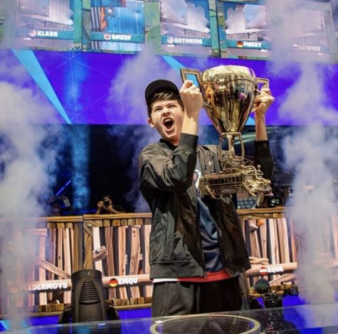 """Then-16-year-old Kyle """"Bugha"""" Giersdorf is the first winner in the solo division of the Fortnite World Cup 2019."""