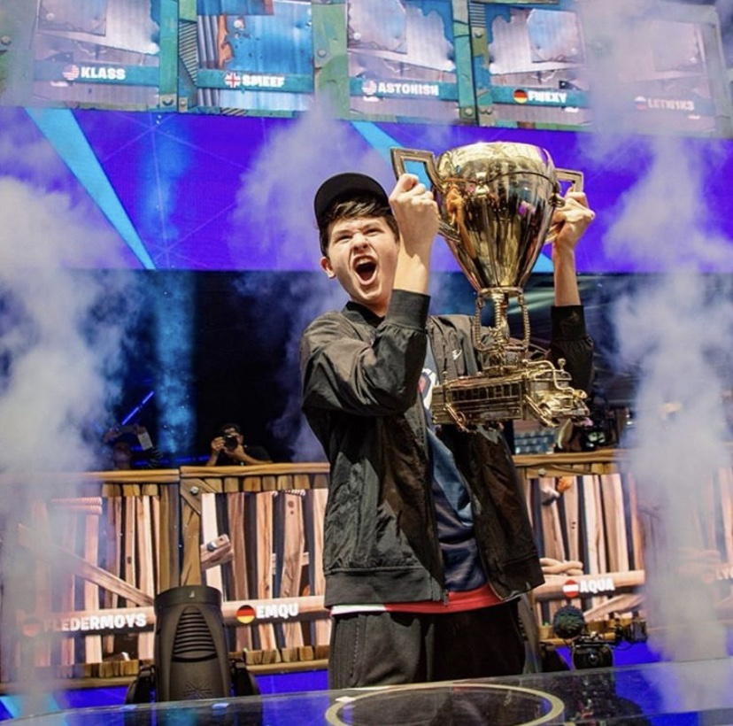 "Then-16-year-old Kyle ""Bugha"" Giersdorf is the first winner in the solo division of the Fortnite World Cup 2019."