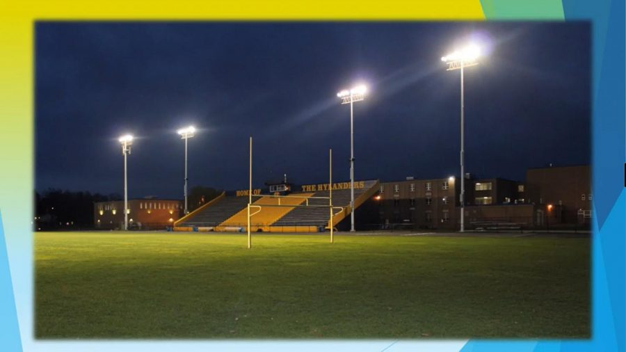 At Academic Awards Night, senior dean Ms. Janelle Gillis told the virtual audience that the football field's lights remained on for 20 minutes each night at 8:00 p.m. in honor of the class of 2020.