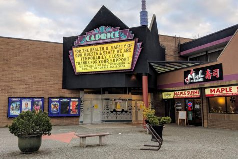 Businesses like this movie theater in Surry, England are closed to avoid  Coronavirus outbreaks.