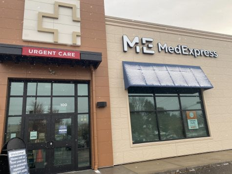 The MedExpress Urgent Care clinic at the corner of 49th Avenue and Central Avenue is one of the only COVID-19 testing sites in Columbia Heights.