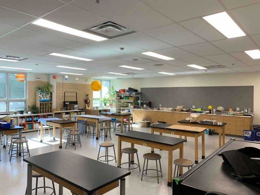 Several+classrooms+at+North+Park+Elementary+have+been+renovated+to+become+learning+studios+that+allow+for+ample+space+and+multiple+stations+that+can+benefit+young+learners.
