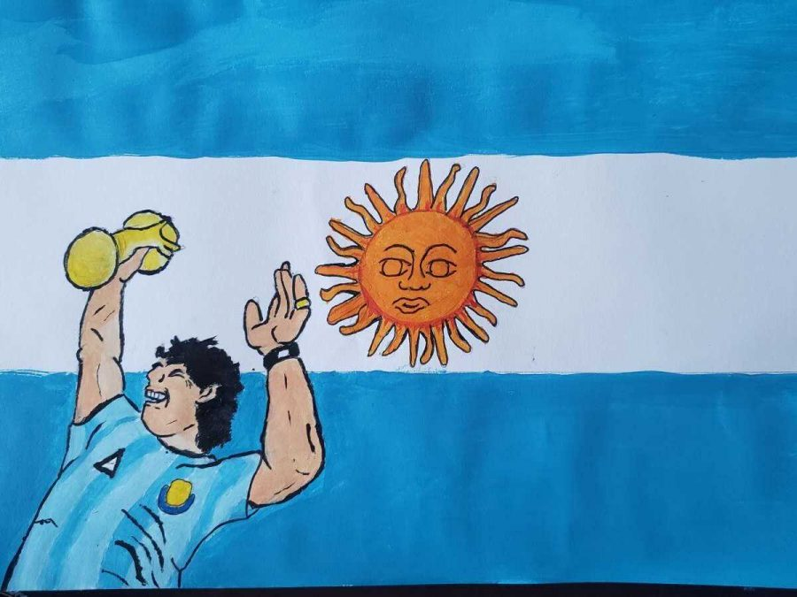 David+Maradona%2C+from+Argentina%2C+is+considered+to+be+by+many%2C+one+of+soccer%27s+most+popular+icons.+