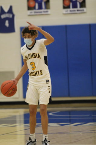 Terrence Brown (11) masked up for the Hylanders