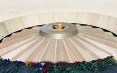 At the center of the Armenian Genocide memorial complex is an eternal flame, remembering the 1.5 million lives lost over a three year span.