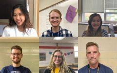 From left to right: Ms. Tenzin Dorjee, Mr. Brett Herbers, Ms. Maddie Kuehn,  Mr. Brett Herbers, Ms. Ella VandenLangenberg and Mr. John Kulick are all new staff at CHHS.
